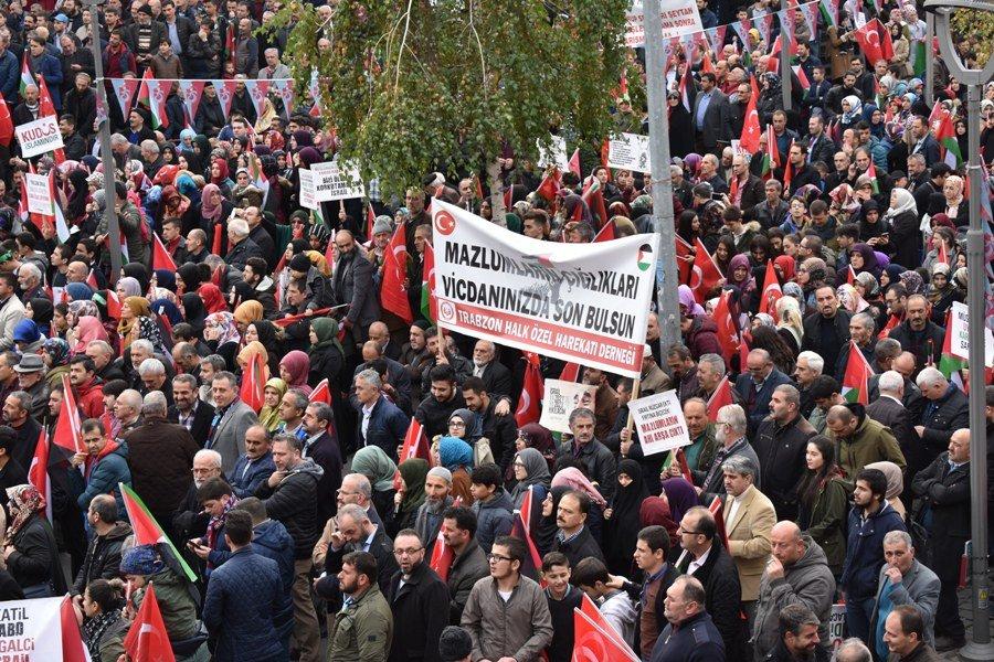 Χιλιάδες πολίτες διαμαρτυρήθηκαν στην Τραπεζούντα για την Ιερουσαλήμ (φώτο)