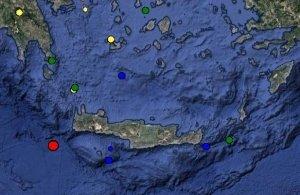 Ασθενής σεισμική δόνηση πριν από λίγο στην Κρήτη