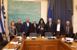 Συναντήθηκε ο βουλευτής Αλέξανδρος Τριανταφυλλίδης με τον νεοεκλεγέντα μητροπολίτη ορθοδόξων Αρμενίων Ελλάδος
