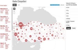 Δημιουργήθηκε ο πρώτος διαδραστικός χάρτης με δολοφονίες γυναικών στην Τουρκία