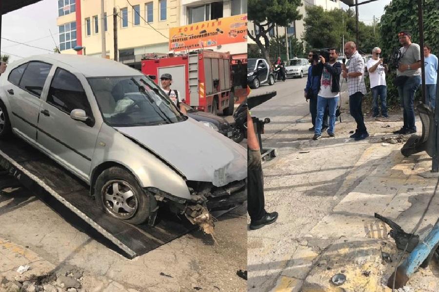 Τραγωδία στη Μεταμόρφωση: Αυτοκίνητο έπεσε σε στάση λεωφορείου — Ένας νεκρός