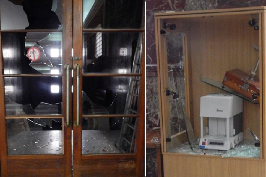 Αναρχικοί τα έσπασαν στο υπουργείο Ανάπτυξης για τον Κουφοντίνα (φωτο)