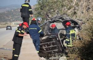 Καβάλα: Έξι νεκροί και δέκα τραυματίες στην Εγνατία Οδό