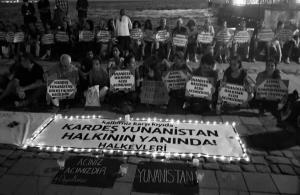 Συγκέντρωση αλληλεγγύης Τούρκων πολιτών στο ελληνικό προξενείο της Σμύρνης