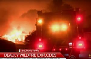 Φωτιά καίει ανεξέλεγκτα στην Καλιφόρνια