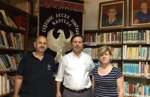 Την εθνική βιβλιοθήκη Αργυρουπόλεως στην Βέροια επισκέφτηκε ο επίκουρος καθηγητής του ΑΠΘ Νικόλας Καρανικόλας