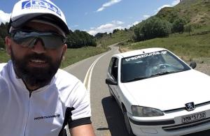«Παγώνει», λόγω εθνικού πένθους, τη δράση του ο ποδηλάτης Βασίλης Καρυοφυλλίδης, για την Τραπεζούντα