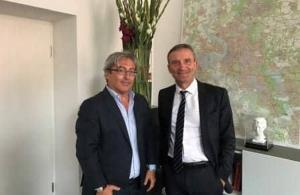 Συνάντηση του Ηλία Μαυρίδη με τον δήμαρχο Ντίσελντορφ Thomas Geisel