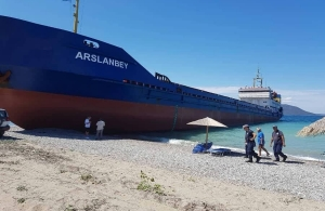 Τουρκικό πλοίο βγήκε σε ακτή της Εύβοιας