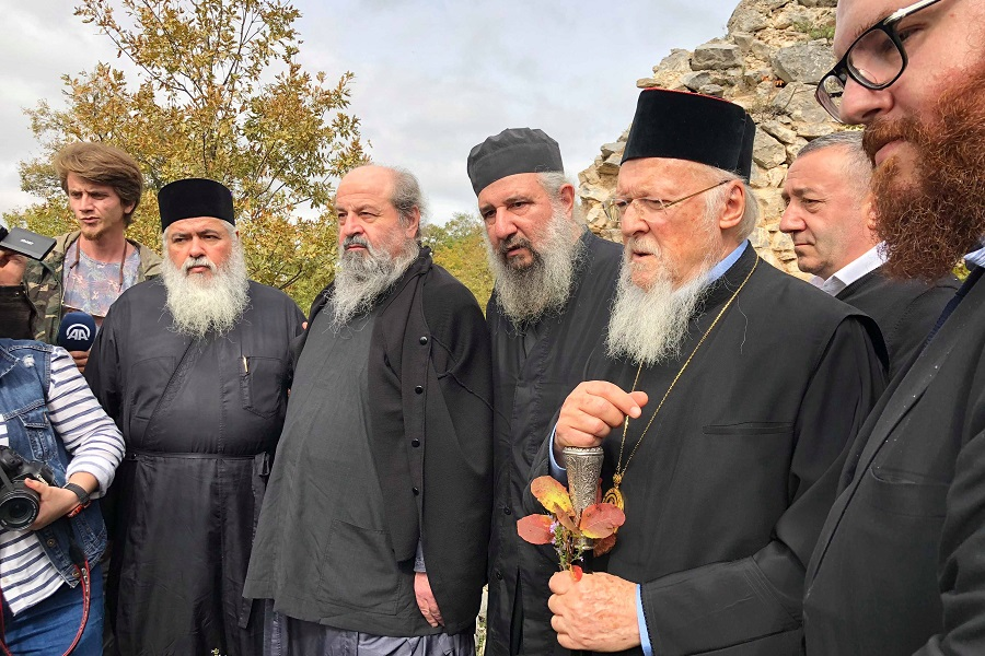 Την Παναγία του Οτ Καγιά στην Πάφρα επισκέφθηκε χθες ο Πατριάρχης Βαρθολομαίος — Σήμερα θα επισκεφθεί τη Σινώπη (φωτο)