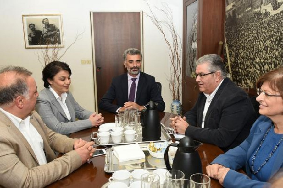 Με τον γενικό γραμματέα του ΚΚΕ Δ. Κουτσούμπα συναντήθηκαν μέλη του ΔΣ της ΔΙΣΥΠΕ