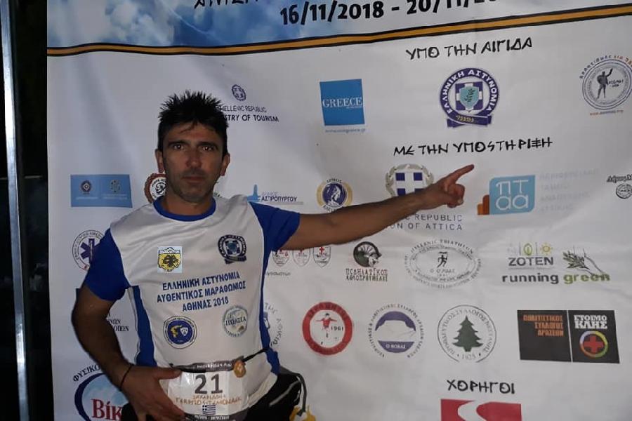Στην τέταρτη θέση τερμάτισε ο Γιώργος Ζαχαριάδης στον «4ο Αυθεντικό Φειδιππίδειο Δρόμο 2018»