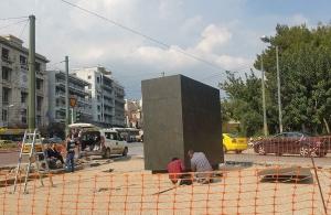 Έτοιμη η βάση για το άγαλμα του Μεγάλου Αλεξάνδρου στη συμβολή των λεωφόρων Αμαλίας και Βασιλίσσης Όλγας