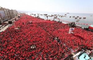 Εθνικιστικό παραλήρημα Ερντογάν: «Σμύρνη, εσύ έριξες τους γκιαούρηδες στη θάλασσα»
