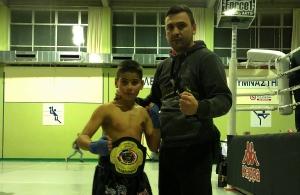 Κατέκτησε τη ζώνη του «Fight Night 4» ο 10χρονος Πέτρος Τόπαλος