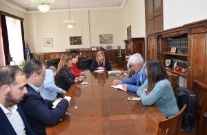 Εθιμοτυπική συνάντηση της υφυπουργού εσωτερικών Μακεδονίας–Θράκης με εκπροσώπους της ΠΟΠΣ και της ΠΟΕ