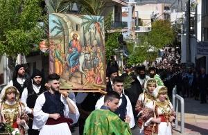 Κυριακή των Βαΐων στις Αχαρνές — Ποντιακά σωματεία συμμετείχαν στη λιτανεία της εικόνας (φωτο, βίντεο)