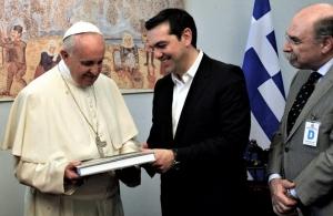 Ο πάπας Φραγκίσκος στηρίζει τον Τσίπρα για το Νόμπελ Ειρήνης