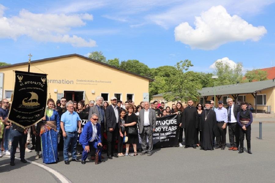 Εκδήλωση για την Γενοκτονία των Ελλήνων του Πόντου, Αρμενίων και Ασσυρίων στο στρατόπεδο συγκέντρωσης Μπούχενβαλντ της Γερμανίας