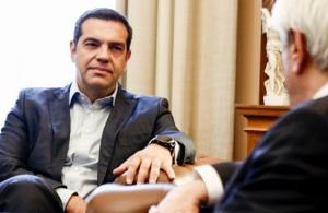Στον Παυλόπουλο μετέβη χτες ο Τσίπρας για να ζητήσει πρόωρες κάλπες, δύο εβδομάδες μετά τη συντριβή στις ευρωεκλογές