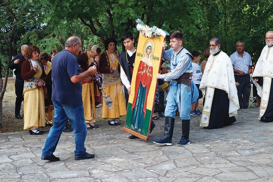 Με λαμπρότητα και ποντιακή παρουσία τιμήθηκε η Αγία Μαρίνα στο Θρυλόριο Κομοτηνής