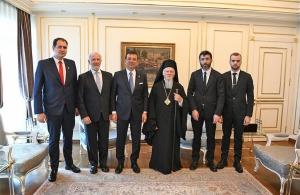 Ο πατριάρχης Βαρθολομαίος συναντήθηκε με τον νέο δήμαρχο Κωνσταντινούπολης Ιμάμογλου