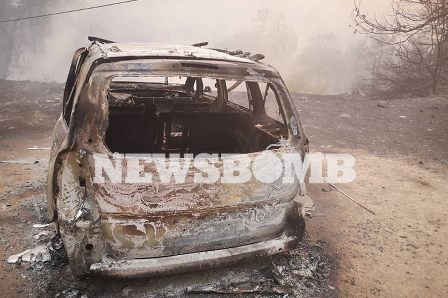 Προσαγωγή υπόπτου για την πυρκαγιά στη βόρεια Εύβοια — Εικόνες βιβλικής καταστροφής