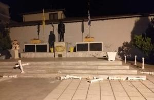 Βανδάλησαν το μνημείο Γενοκτονίας των Ελλήνων του Πόντου στην Αλεξάνδρεια Ημαθίας — Διαβάστε τι δήλωσε ο Βαγγέλης Λάχανης