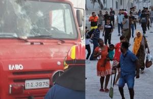 Φωτιά στη Μόρια: Δύο νεκροί — Ζημιές σε πυροσβεστικά οχήματα (φώτο, βίντεο)