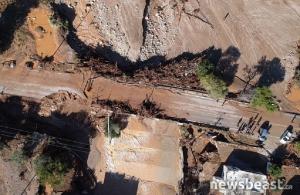 Δείτε το καταστροφικό πέρασμα του «Γηρυόνη» στην Κινέτα από ψηλά (φωτο)