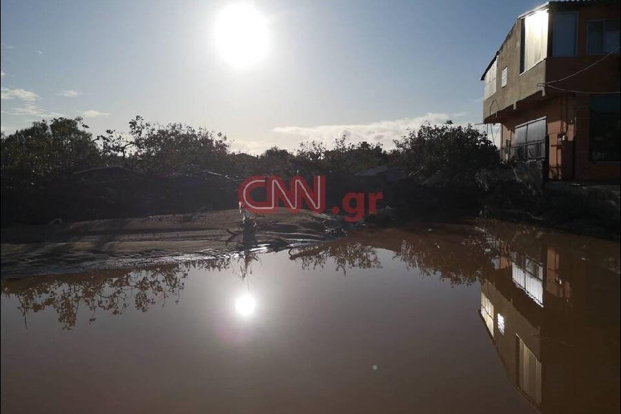 Κακοκαιρία «Γηρυόνης»: Εικόνες απόλυτης καταστροφής στην Κινέτα (φωτο,βίντεο)