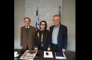 Συνάντηση του βουλευτή της ΝΔ Σάββα Αναστασιάδη με τον συγγραφέα του βιβλίου «Κόκκινο ποτάμι» Χάρη Τσιρκινίδη