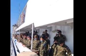 Συγκίνηση από την αλλαγή φρουράς στο Καστελόριζο (βίντεο)