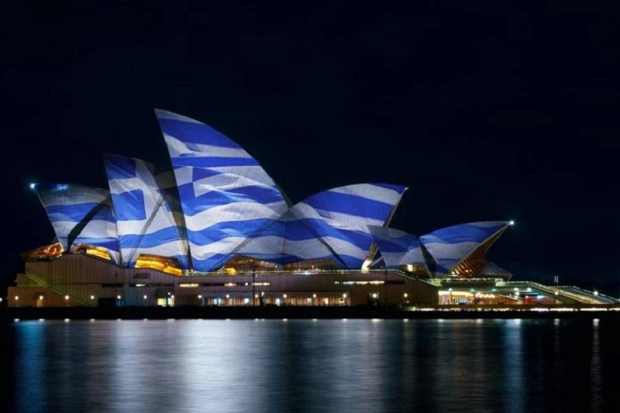 H Όπερα του Σίδνεϊ θα φωταγωγηθεί με τα ελληνικά χρώματα για να τιμηθούν τα 200 χρόνια από το 1821