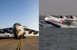 Ιπτάμενοι γίγαντες κατά των πύρινων μετώπων: Ilyushin και Beriev θα επιχειρήσουν μαζί σήμερα και θα ρίξουν 110 τόνους νερού σε Εύβοια και Πελοπόννησο